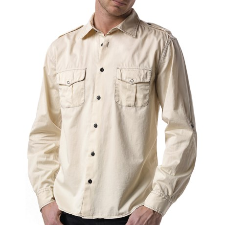 Agave Denim Ex-Patriot Shirt - Cotton Twill, Long Sleeve (For Men) in White Cap