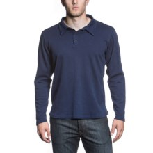 Agave Denim Gold Coast Polo Shirt - Supima® Cotton, Long Sleeve (For Men) in Navy - Closeouts
