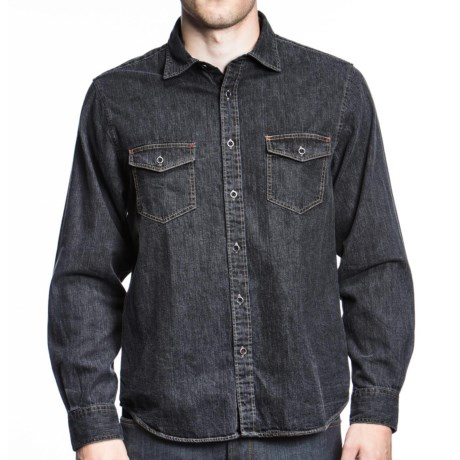 Agave Denim Granite Chief Shirt - Slub Denim, Long Sleeve (For Men) in Black