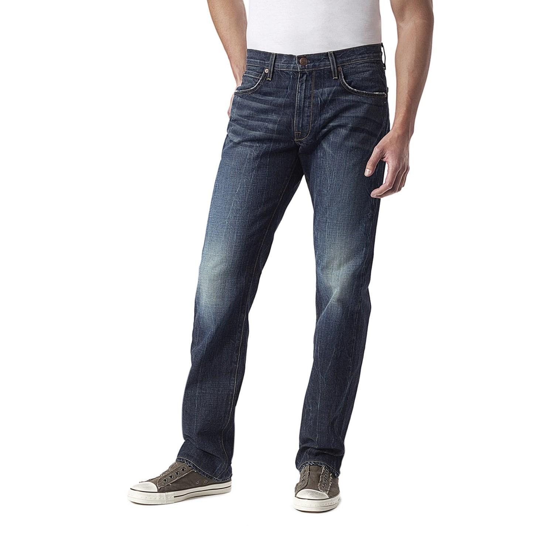 Dark denim jeans for men