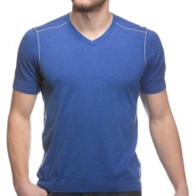 Agave Denim H. Jacobs Supima Cotton Shirt - V-Neck, Short Sleeve (For Men) in Dazzling Blue - Closeouts