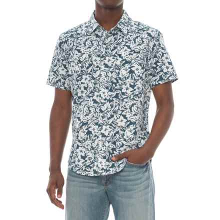 Agave Denim Isla Vista Bloom Shirt - Short Sleeve (For Men) in Ag-Indigo Rinse - Closeouts