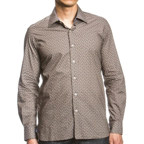 Agave Denim Jefe Printed Shirt - Long Sleeve (For Men) in Brown Paisley