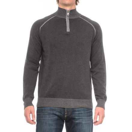 Agave Denim Lundy Sweater - Zip Neck (For Men) in Charcoal - Closeouts
