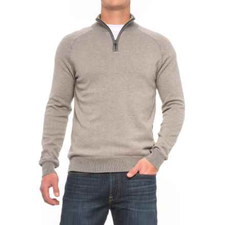 Agave Denim Lundy Sweater - Zip Neck (For Men) in Fungi - Closeouts