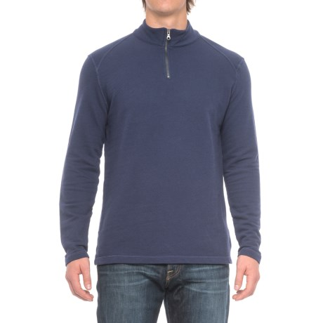 Agave Denim Malone Shirt - Zip Neck, Long Sleeve (For Men) in Eclipse