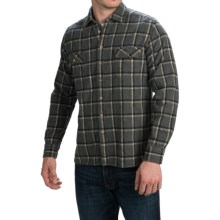 Agave Denim Millard Japanese Yarn-Dyed Plaid Shirt - Long Sleeve (For Men) in Charcoal - Closeouts