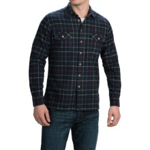Agave Denim Millard Japanese Yarn-Dyed Plaid Shirt - Long Sleeve (For Men) in Navy - Closeouts
