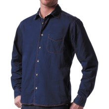 Agave Denim Perfecto Tailored Shirt - Long Sleeve (For Men) in Blue/Black - Closeouts
