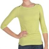 Agave Denim Puerto Shirt - 3/4 Sleeve (For Women)