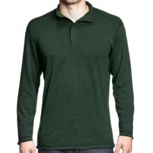 Agave Denim Pulse Shirt - Snap Mock Neck, Long Sleeve (For Men) in Hunter Green - Closeouts