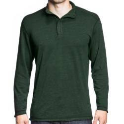 Agave Denim Pulse Shirt - Snap Mock Neck, Long Sleeve (For Men) in Hunter Green