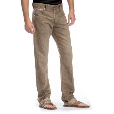Agave Denim Purist Old Loom Linen Jeans - Classic Fit, Straight Leg (For Men) in Brown