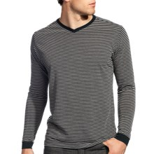 Agave Denim Sespe Shirt - Jersey Stripe, Long Sleeve (For Men) in Stretch Limo - Closeouts