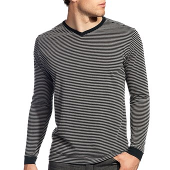 Agave Denim Sespe Shirt - Jersey Stripe, Long Sleeve (For Men) in Stretch Limo