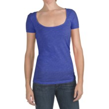 Agave Denim Smore T-Shirt - Slub Jersey, Short Sleeve (For Women) in Clematis Blue - Closeouts