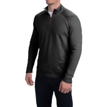 Agave Denim Surfrider Pullover Shirt - Supima Cotton Blend, Zip Neck, Long Sleeve (For Men) in Anthracite - Closeouts