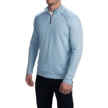 Agave Denim Surfrider Pullover Shirt - Supima Cotton Blend, Zip Neck, Long Sleeve (For Men) in Cerulean Blue - Closeouts