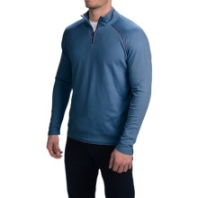 Agave Denim Surfrider Pullover Shirt - Supima Cotton Blend, Zip Neck, Long Sleeve (For Men) in Majolica Blue - Closeouts
