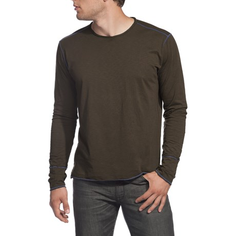 Agave Denim Trinity Shirt - Supima® Cotton Jersey, Long Sleeve (For Men) in Seal Brown