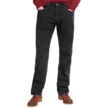 Agave Denim Waterman Cavalry Flex Twill Jeans - Relaxed Fit, Straight Leg (For Men) in Black - Closeouts