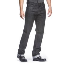 Agave Denim Waterman Dana Point Black Flex Jeans - Straight Leg (For Men) in Black - Closeouts