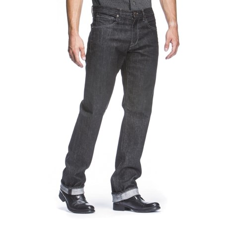 Agave Denim Waterman Dana Point Black Flex Jeans - Straight Leg (For Men) in Black