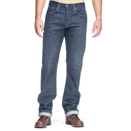 Agave Denim Waterman Dana Point Indigo Rinse Flex Jeans - Relaxed Fit, Straight Leg (For Men) in Light Indigo