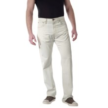 Agave Denim Waterman Jeans - Relaxed Fit, Contrast Stitching (For Men) in White Indigo Supima - Closeouts
