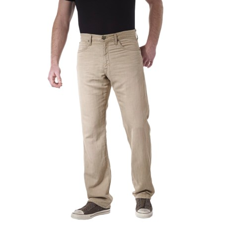 Agave Denim Waterman Sand N Sea Jeans - Cotton-Linen, Straight Fit (For Men) in Sand