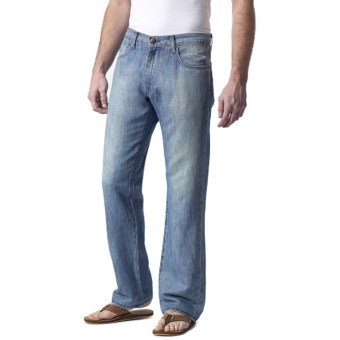 Agave Denim Waterman Sky N Sea Jeans - Cotton-Linen, Relaxed Fit (For Men) in Lt Indigo