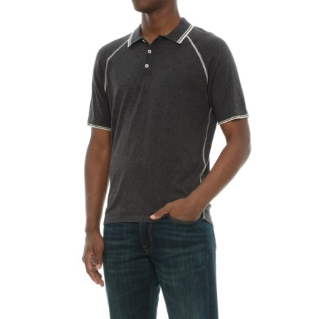 Agave Denim Watson Supima® Cotton Polo Shirt - Short Sleeve (For Men) in Charcoal