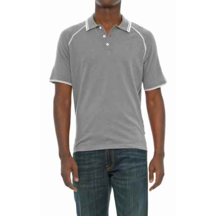 Agave Denim Watson Supima® Cotton Polo Shirt - Short Sleeve (For Men) in High Rise - Closeouts