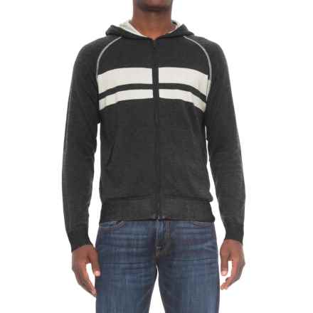 Agave Dorian Supima® Cotton Hoodie - Zip Front (For Men) in Ag-Charcoal - Closeouts