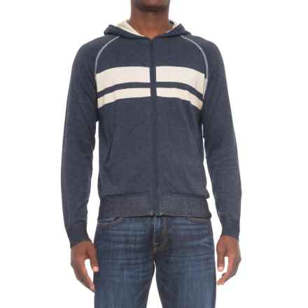 Agave Dorian Supima® Cotton Hoodie - Zip Front (For Men) in Ombre Blue - Closeouts