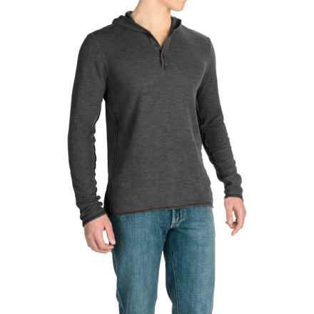 Agave Echo Henley Hoodie (For Men) in Black (Agave) - Closeouts