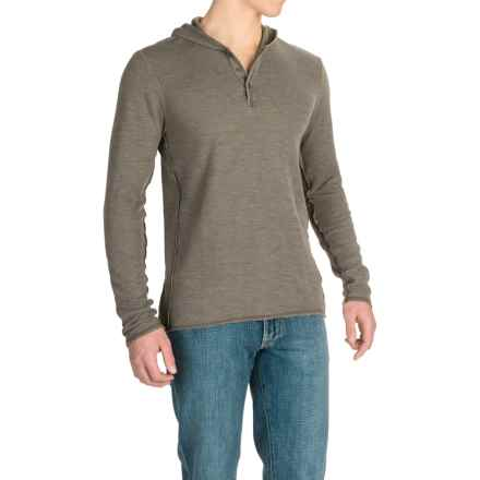 Agave Echo Henley Hoodie (For Men) in Tarmac (Agave) - Closeouts