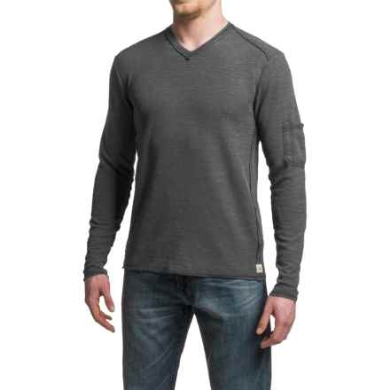 Agave Garlock Antique-Washed Shirt - Cotton-Modal, V-Neck, Long Sleeve (For Men) in Black (Agave) - Closeouts