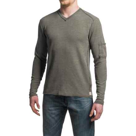 Agave Garlock Antique-Washed Shirt - Cotton-Modal, V-Neck, Long Sleeve (For Men) in Tarmac (Agave) - Closeouts