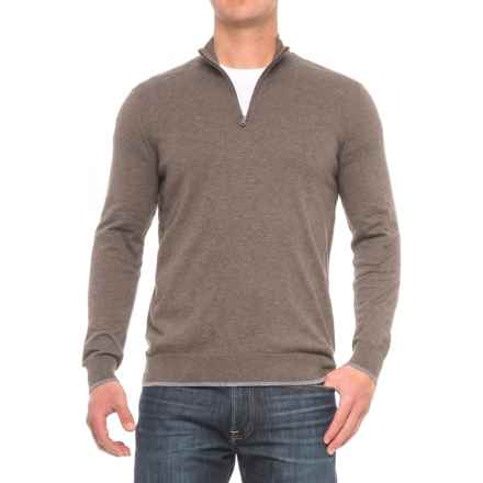 Agave Graftin Zip Neck Sweater (For Men) in Cub - Closeouts