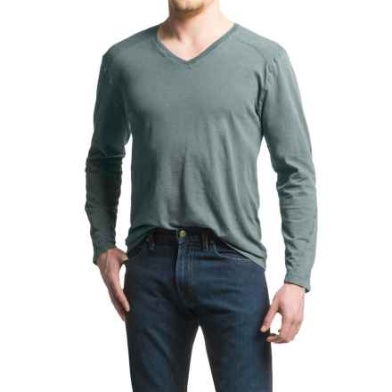 Agave Hart Vee Shirt - Slub Cotton, V-Neck, Long Sleeve (For Men) in Ag-India Ink - Closeouts