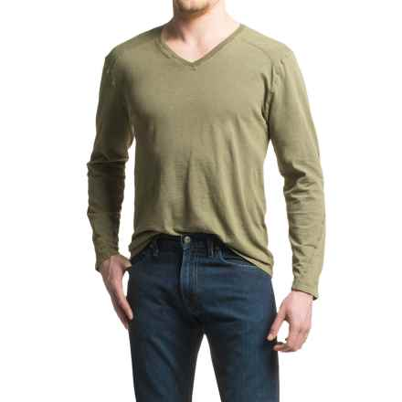 Agave Hart Vee Shirt - Slub Cotton, V-Neck, Long Sleeve (For Men) in Tarmac (Agave) - Closeouts