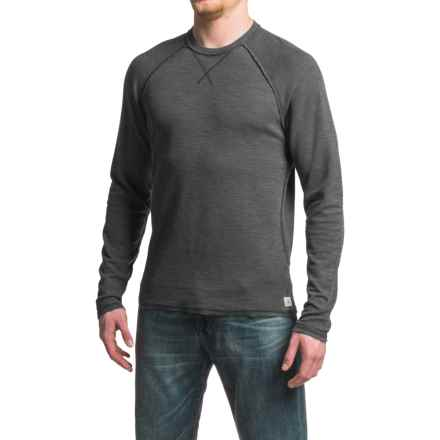 Agave Meridian Antique-Washed Shirt - Cotton-Modal, Crew Neck, Long Sleeve (For Men) in Black (Agave) - Closeouts