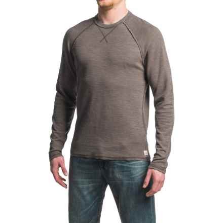 Agave Meridian Antique-Washed Shirt - Cotton-Modal, Crew Neck, Long Sleeve (For Men) in Turkish Coffee - Closeouts