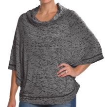 Agave Nectar Cinsaut Poncho - Cowl Neck, 3/4 Sleeve (For Women) in Black - Closeouts