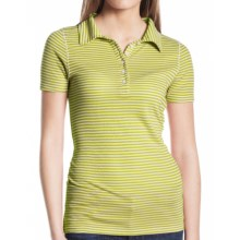 Agave Nectar Cruise Polo Shirt - Pique Cotton Blend, Short Sleeve (For Women) in Citronelle - Closeouts