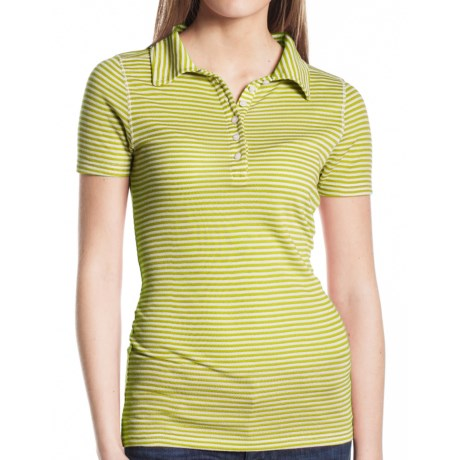 Agave Nectar Cruise Polo Shirt - Pique Cotton Blend, Short Sleeve (For Women) in Citrus