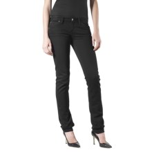 Agave Nectar Delgada Blackout Skinny Jeans - Stretch, Slim Fit (For Women) in Black - Closeouts