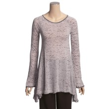 Agave Nectar Gamay Flare Burnout Shirt - Long Sleeve (For Women) in Fudge - Closeouts