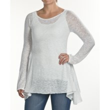 Agave Nectar Gamay Flare Burnout Shirt - Long Sleeve (For Women) in Glacier Grey - Closeouts